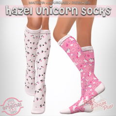 hazel unicorn socks __ pink cream pie
