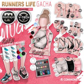 mug - runners life gacha key