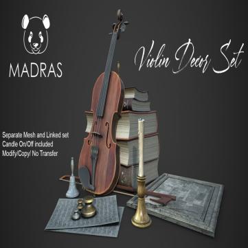 MADRAS Violin Decor Set